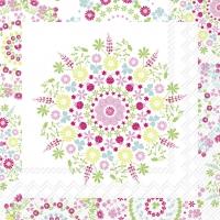 Servietten 25x25 cm - LILLY white pink