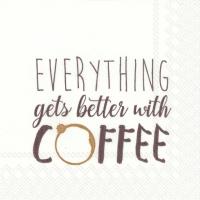Servietten 25x25 cm - … BETTER WITH COFFEE brown