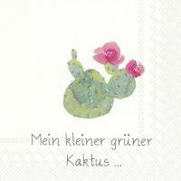 Servietten 25x25 cm - MEIN KLEINER GRÜNER KAKTUS…