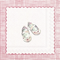Servietten 25x25 cm - FOR MY LITTLE BABY light rose