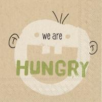 Servietten 25x25 cm - wir sind hungrig