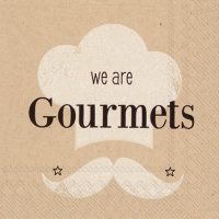 Servietten 25x25 cm - we are gourmets