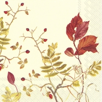 Servietten 25x25 cm - FALL BRANCHES Creme