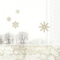Servietten 25x25 cm - SILENT WINTER DAY linen