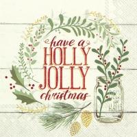 Servietten 25x25 cm - HOLLY JOLLY CHRISTMAS