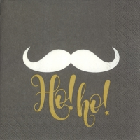 Servietten 25x25 cm - SAY HO! HO! grey