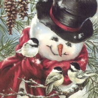 Servietten 25x25 cm - FREDDY, THE SNOWMAN