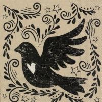 Servietten 25x25 cm - alter Vogel