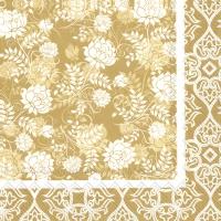 Servietten 25x25 cm - CLASSIC GARDEN gold