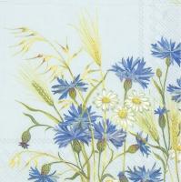 Servietten 25x25 cm - In den Feldern hellblau