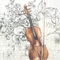 Servietten 25x25 cm - BELLA MUSICA