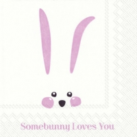 Servietten 25x25 cm - SOMEBUNNY LOVES YOU