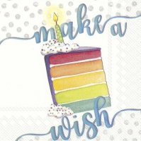 Servietten 25x25 cm - MAKE A WISH