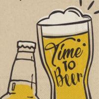 Servietten 25x25 cm - Zeit zum Bierchen