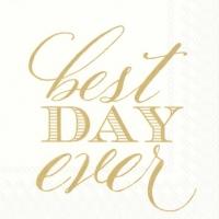Servietten 25x25 cm - Bester Tag aller Zeiten Gold