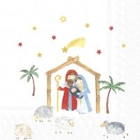 Servietten 25x25 cm - CHRISTMAS CRIB