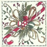 Servietten 25x25 cm - CHRISTMAS FLORISTRY ceam