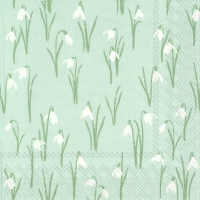 Servietten 25x25 cm - ELEGANT SPRING light blue