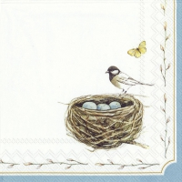 Servietten 25x25 cm - EASTER NEST white