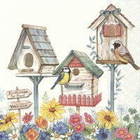 Servietten 25x25 cm - BIRDHOUSE FOR RENT