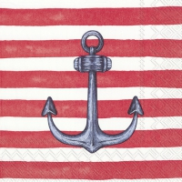 Servietten 25x25 cm - SAILOR´S ANCHOR red