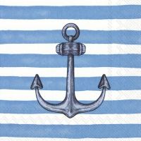 Servietten 25x25 cm - SAILOR´S ANCHOR light blue