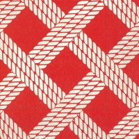 Servietten 25x25 cm - SAILOR´S ROPE red