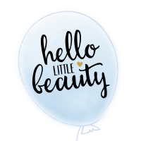 Servietten 25x25 cm - HELLO LITTLE BEAUTY light blue