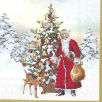 Servietten 25x25 cm - ANNUAL CHRISTMAS SANTA (V&B)