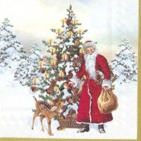Servietten 25x25 cm - ANNUAL CHRISTMAS SANTA V&B
