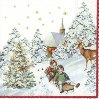 Servietten 25x25 cm - ANNUAL CHRISTMAS SNOW (V&B)