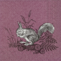 Servietten 25x25 cm - FOREST FRIENDS SQUIRREL bord.