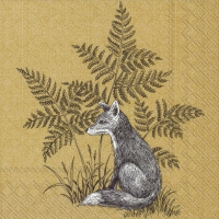 Servietten 25x25 cm - FOREST FRIENDS FOX ochre