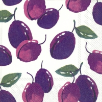 Servietten 25x25 cm - PLUMS IN LOVE