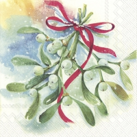 Servietten 25x25 cm - WINTER MISTLETOE