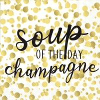 Servietten 25x25 cm - SOUP OF THE DAY gold