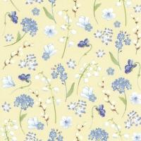 Servietten 25x25 cm - FLOWERS IN SPRING yellow