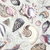 Servietten 25x25 cm - SHELLS OF THE SEA nature