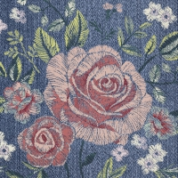 Servietten 25x25 cm - DENIM ROSE
