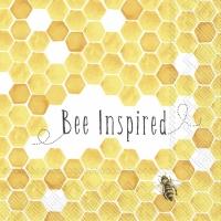 Servietten 25x25 cm - BEE INSPIRED yellow