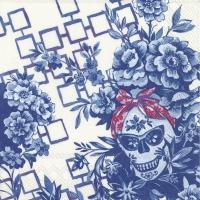 Servietten 25x25 cm - CATRINA cream blue