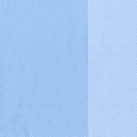 Servietten 33x33 cm - DOUBLO hellblau