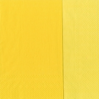 Servietten 33x33 cm - DOUBLO yellow