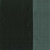 Servietten 33x33 cm - DOUBLO black