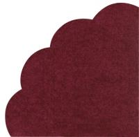 Servietten - Rund - UNI rubin