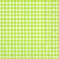 Servietten 33x33 cm - VICHY light green