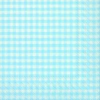 Servietten 33x33 cm - VICHY Vintage Oberlicht blau