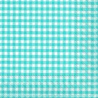 Servietten 33x33 cm - Vichy blau