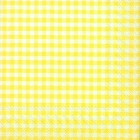 Servietten 33x33 cm - VICHY light yellow