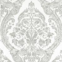 Servietten 33x33 cm - GRANDEUR white silver